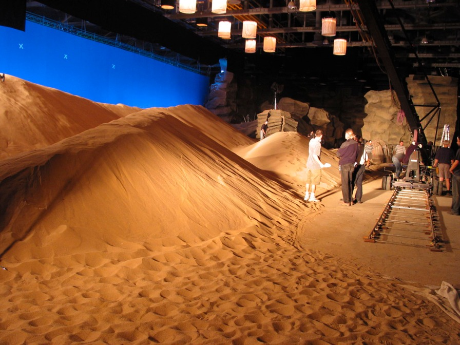 On the set of Dune (2000)