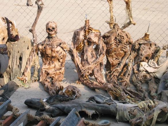Skeletons on the set of Van Helsing (2004)