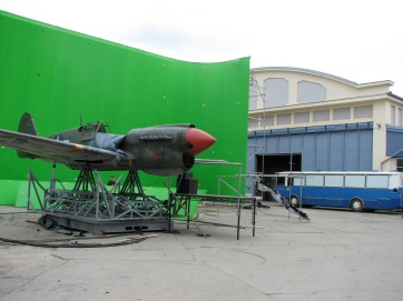 On the set of Red Tails (2012)