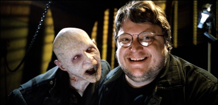Director Guillermo Del Toro on the set of Blade II (2002)
